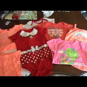 Baby girl bundle Disney , koala baby etc 18-24 mo.